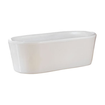 Barclay Raquel Acrylic Oval Tub - No Faucet Holes Or Overflow