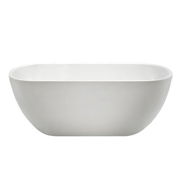 Barclay Raven Acrylic Oval Tub - No Faucet Holes Or Overflow