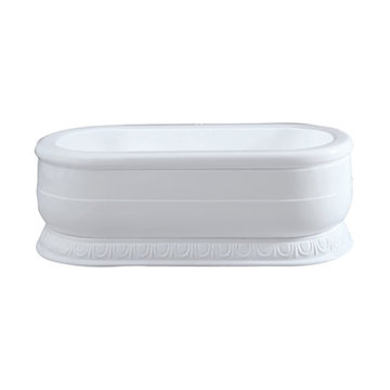 Barclay Regan Acrylic Oval Tub With Base - No Faucet Holes Or Overflow
