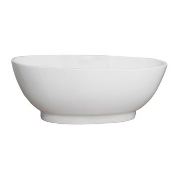 Barclay Regency Acrylic Oval Tub - No Faucet Holes Or Overflow