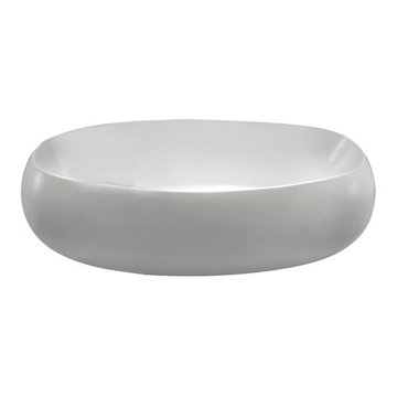 Barclay Rochester Acrylic Oval Tub - No Faucet Holes Or Overflow