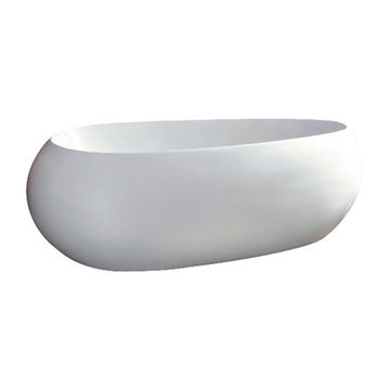 Barclay Roman Acrylic Oval Tub - No Faucet Holes Or Overflow