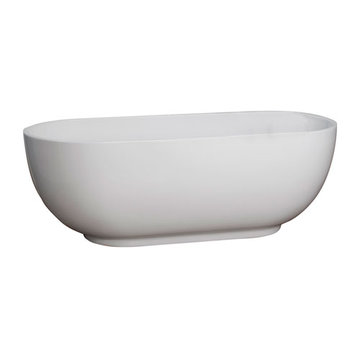 Barclay Roosevelt Acrylic Oval Tub - No Faucet Holes Or Overflow