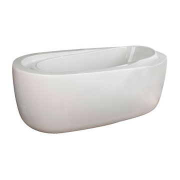 Barclay Rourke Acrylic Oval Tub - No Faucet Holes