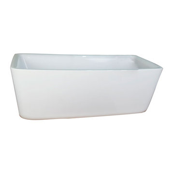 Barclay Shaw Acrylic Rectangular Tub - No Faucet Holes Or Overflow