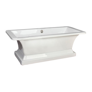 Barclay Sydney Acrylic Rectangular Tub With Base - No Faucet Holes