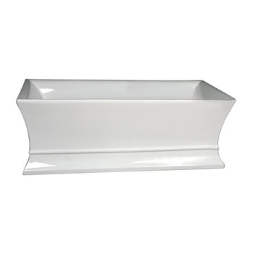 Barclay Thayer Acrylic Rectangular Tub - No Faucet Holes Or Overflow