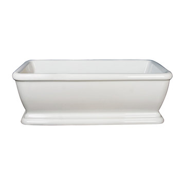 Barclay Verron Acrylic Rectangular Tub - No Faucet Holes Or Overflow