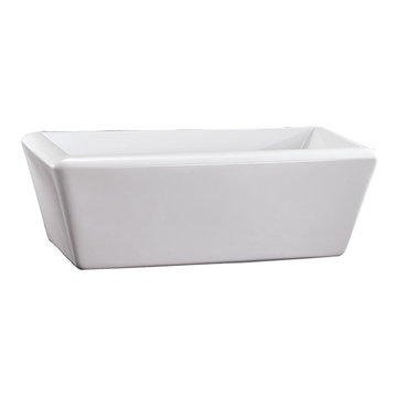 Barclay Vivien Acrylic Rectangular Tub - No Faucet Holes Or Overflow