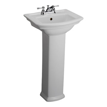 Barclay Washington 18 1/8 Inch Pedestal Lavatory
