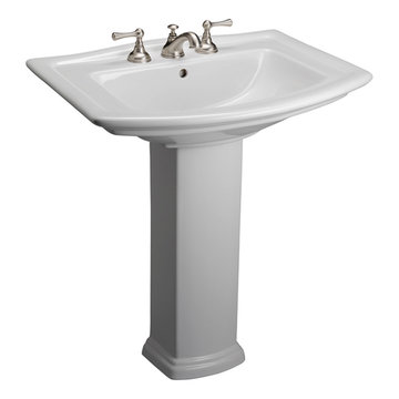 Barclay Washington 25 5/8 Inch Pedestal Lavatory
