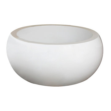 Barclay Yarborough Acrylic Round Tub - No Faucet Holes Or Overflow