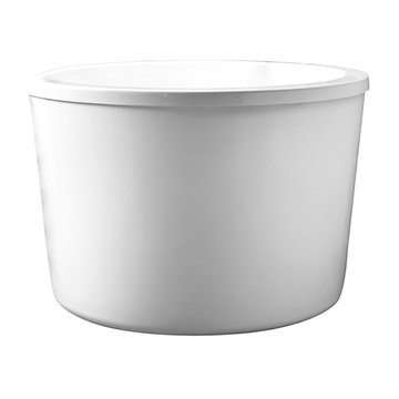 Barclay Yolanda Acrylic Round Tub With Seat - No Faucet Holes Or Overflow