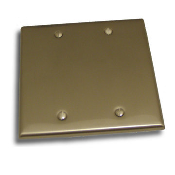 Residential Essentials Double Blank Switchplate