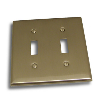 Residential Essentials Double Toggle Switchplate