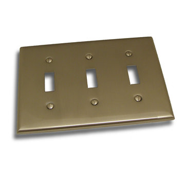 Residential Essentials Triple Toggle Switchplate