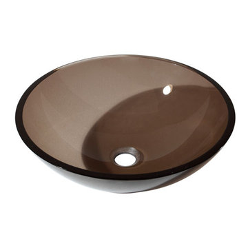 Avanity Brown Tempered Glass Vessel Sink
