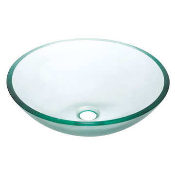 Avanity Clear Tempered Glass Vessel Sink