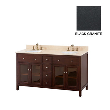Avanity Lexington 60 Inch Vanity With Black Granite