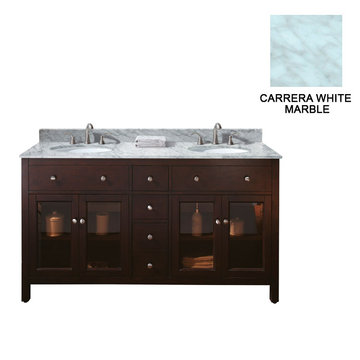 Avanity Lexington 60 Inch Vanity With Carrera White Marble