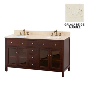 Avanity Lexington 60 Inch Vanity With Galala Beige Marble