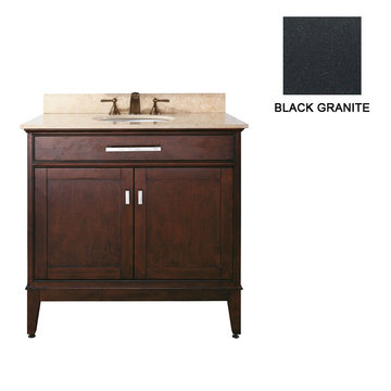 Avanity Madison 36 Inch Espresso Vanity With Black Granite