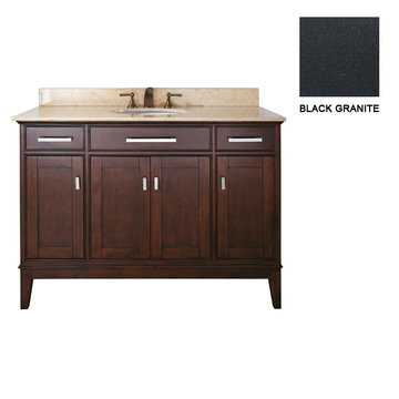 Avanity Madison 48 Inch Espresso Vanity With Black Granite