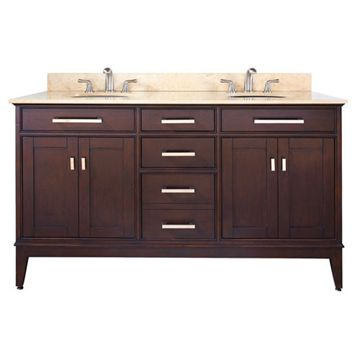 Avanity Madison 60 Inch Espresso Vanity With Black Granite