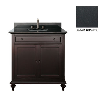 Avanity Merlot 24 Inch Vanity With Black Granite