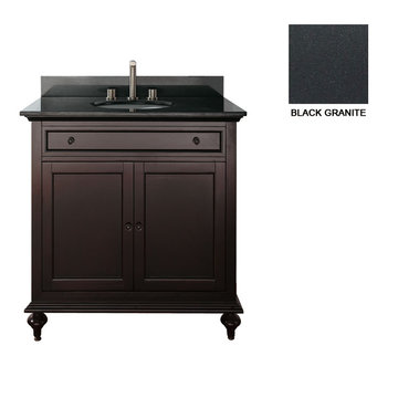 Avanity Merlot 30 Inch Vanity With Black Granite