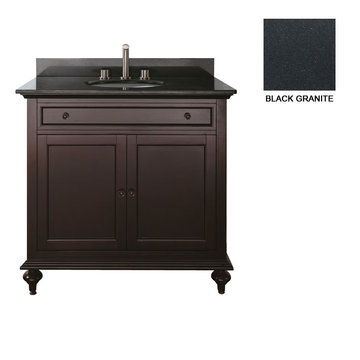 Avanity Merlot 36 Inch Vanity With Black Granite
