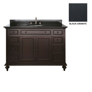 Avanity Merlot 48 Inch Vanity With Black Granite