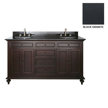 Avanity Merlot 60 Inch Vanity With Black Granite