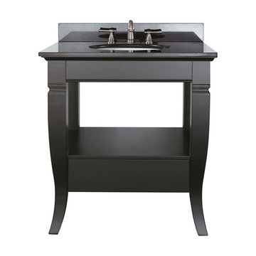 Avanity Milano 30 Inch Vanity With Black Granite