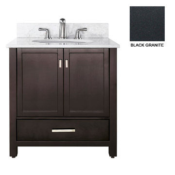 Avanity Modero 36 Inch Espresso Vanity With Black Granite