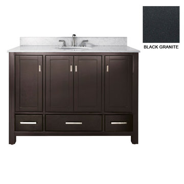 Avanity Modero 48 Inch Espresso Vanity With Black Granite