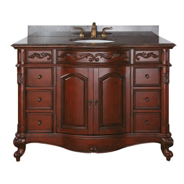 Avanity Provence 48 Inch Vanity With Brown Granite