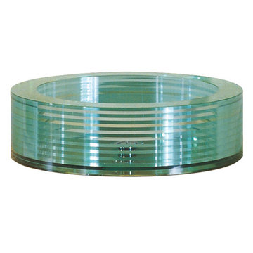 Avanity Round Segmented Glass Vessel Sink
