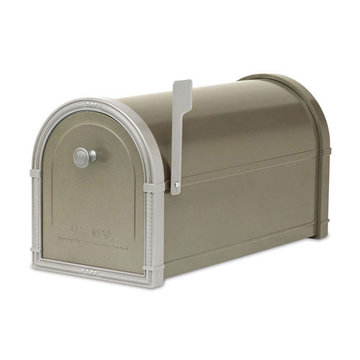 Architectural Mailboxes Bellevue Bronze Post Mount Mailbox