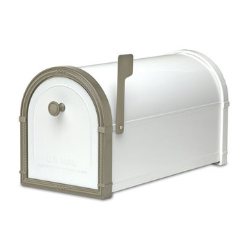 Architectural Mailboxes Bellevue White Post Mount Mailbox
