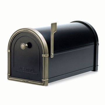 Architectural Mailboxes Coronado Black Post Mount Mailbox