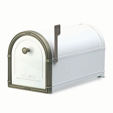 Architectural Mailboxes Coronado White Post Mount Mailbox