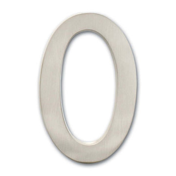 Architectural Mailboxes 4 Inch Satin Nickel House Number