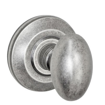 Fusion Elite Egg Knob Privacy Set With Cambridge Rose