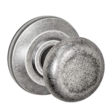 Fusion Elite Half Round Knob Passage Set With Cambridge Rose