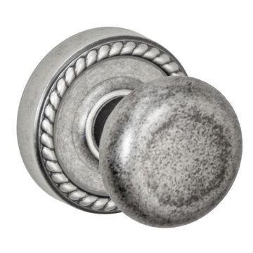 Fusion Elite Half Round Knob Passage Set With Rope Rose