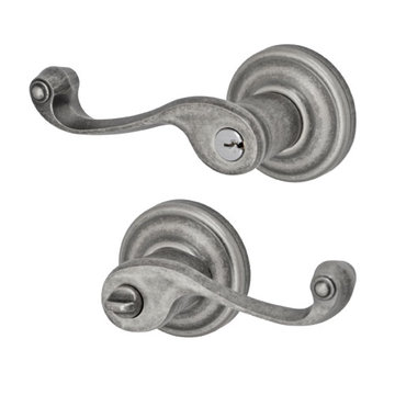 Fusion Elite Ornate Lever Passage Set With Ketme Rose