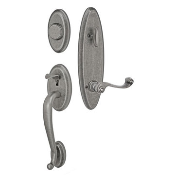 Fusion Elite Quincy One Piece Dummy Interior Thumblatch To Ornate Lever