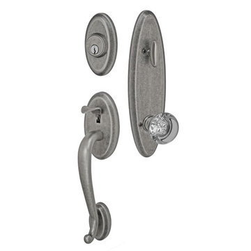 Fusion Elite Quincy One Piece Interior Thumblatch To Flat Iron Glass Knob