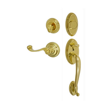 Fusion Elite Quincy Two Piece Dummy Interior Thumblatch To Ornate Lever